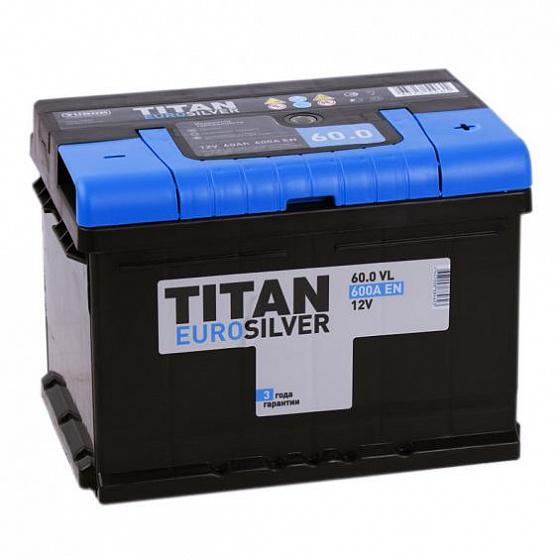 Аккумулятор Titan Euro 60A/h 600A R+