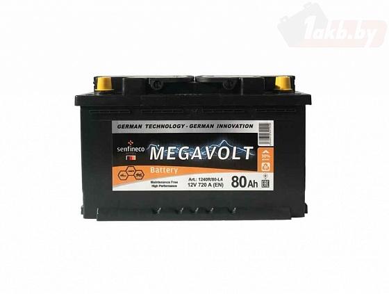Аккумулятор Аккумулятор Megavolt 12V R+ (80 А/h)